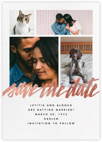 Clarissa (Multi-Photo) - Rose Gold - Paperless Post - Save the dates