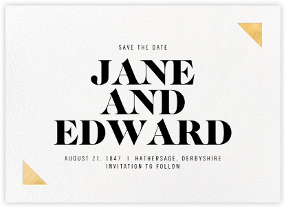 Palermo - Gold - Paperless Post - Save the date cards and templates