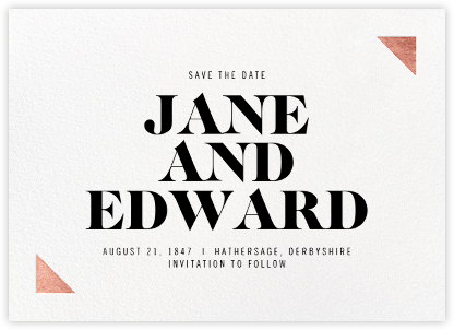 Palermo - Rose Gold - Paperless Post - Modern save the dates
