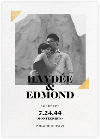 Palermo Photo - Gold - Paperless Post - Save the date cards and templates