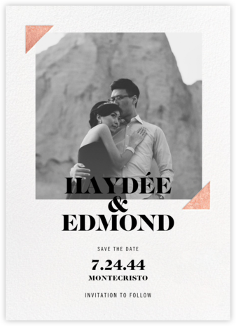 Palermo Photo - Rose Gold - Paperless Post - Photo save the dates