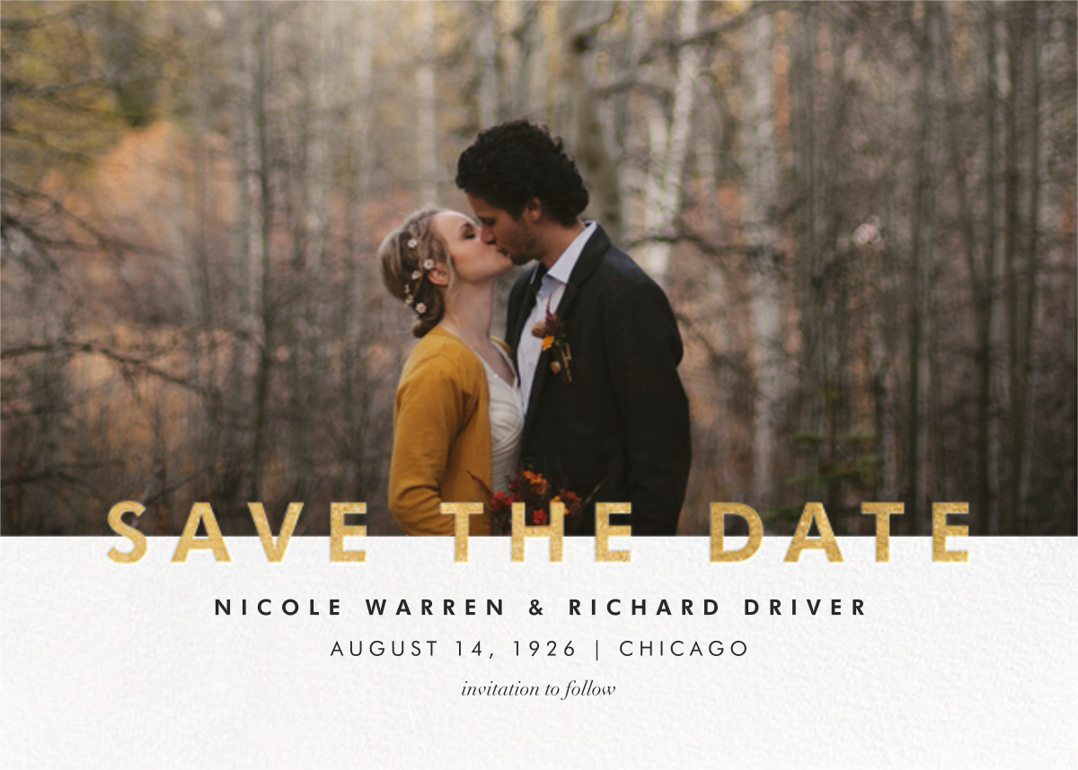 Talbot - Gold - Paperless Post - Save the dates