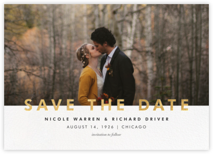 Talbot - Gold - Paperless Post - Gold and metallic save the dates