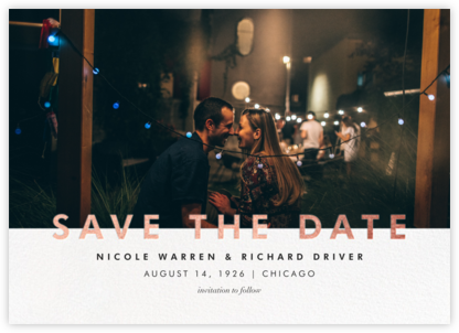 Talbot - Rose Gold - Paperless Post - Photo save the dates