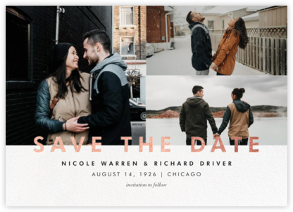 Talbot (Multi-Photo) - Rose Gold - Paperless Post - Save the dates