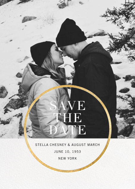Noland - Gold - Paperless Post - Save the dates