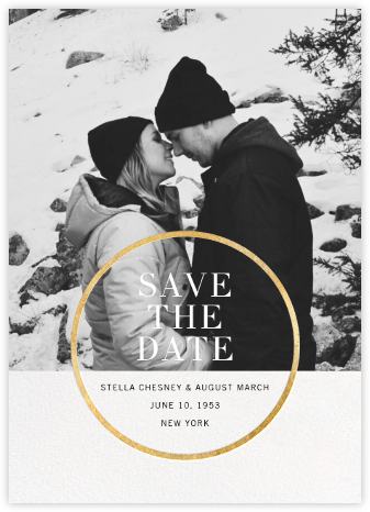 Noland - Gold - Paperless Post - Save the date cards and templates