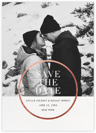 Noland - Rose Gold - Paperless Post - Photo save the dates