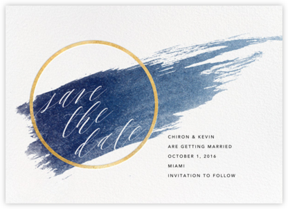Selene - Navy/Gold - Paperless Post - Save the dates