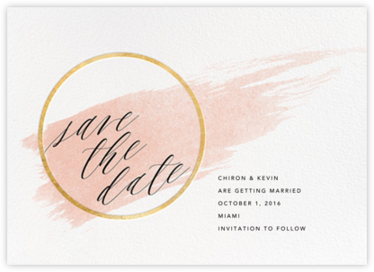 Selene - Meringue/Gold - Paperless Post - Modern save the dates