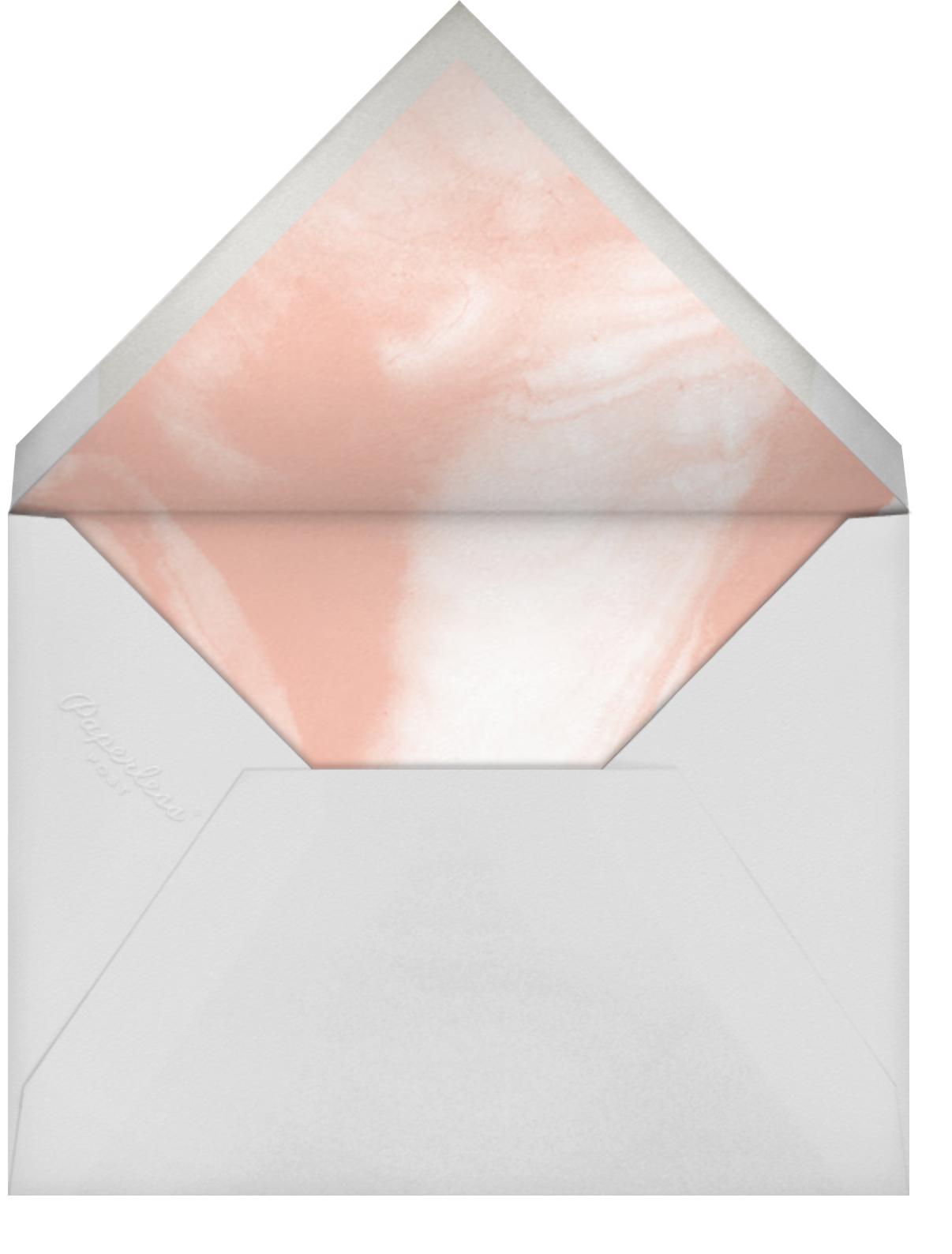Selene - Meringue/Rose Gold - Paperless Post - Save the date - envelope back