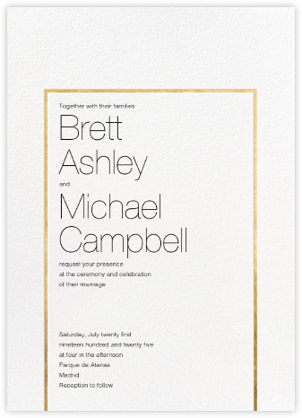 Veldener (Invitation) - Gold - Paperless Post - Wedding Invitations