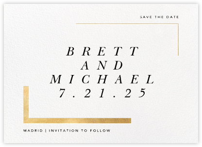 Ando (Save the Date) - Gold - Paperless Post - Gold and metallic save the dates