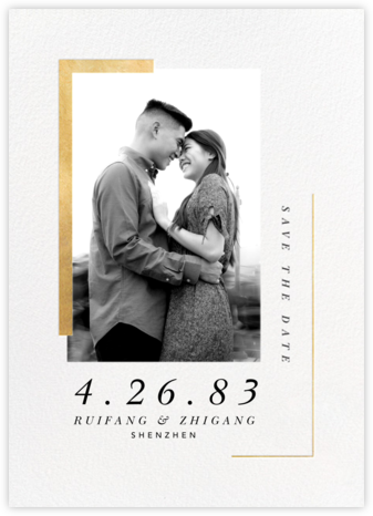 Ando (Photo Save the Date) - Gold - Paperless Post - Modern save the dates