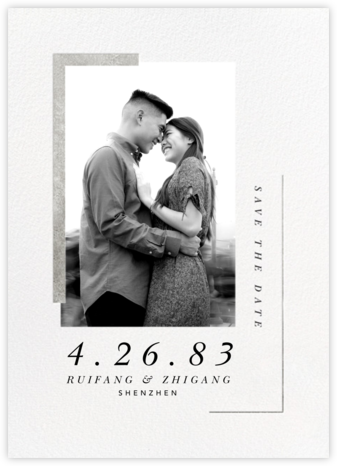 Ando (Photo Save the Date) - Silver - Paperless Post - Save the dates