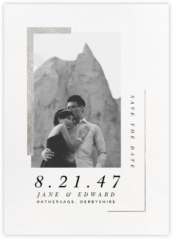Ando (Photo Save the Date) - Silver - Paperless Post - Photo save the dates