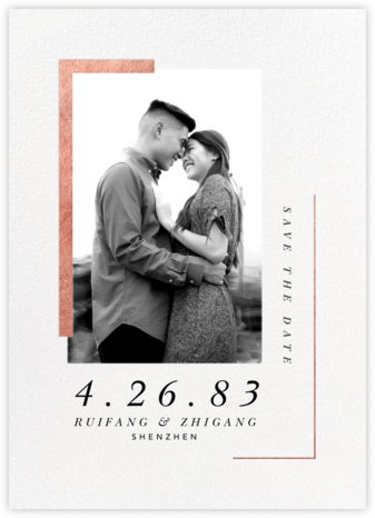 Ando (Photo Save the Date) - Rose Gold - Paperless Post - Save the dates