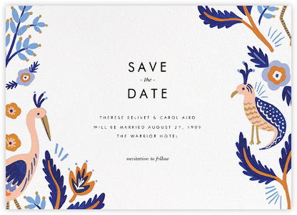 Heron Heralds (Save the Date) - White - Rifle Paper Co. - Rifle Paper Co. Wedding