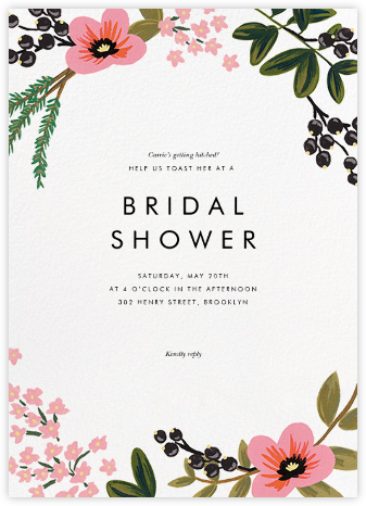 March Herbarium - Rifle Paper Co. - Bridal shower invitations