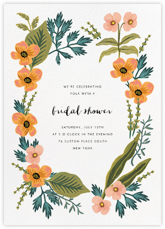 October Herbarium - Rifle Paper Co. - Bridal shower invitations