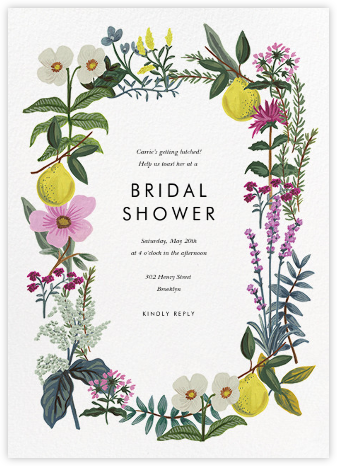 Herb Garden - Rifle Paper Co. - Bridal shower invitations
