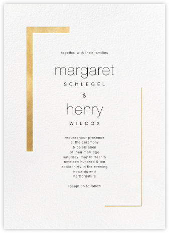 Ando (Invitation) - Gold - Paperless Post - Wedding invitations
