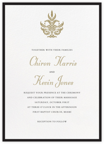 Contorno - Black - Paperless Post - Wedding Invitations