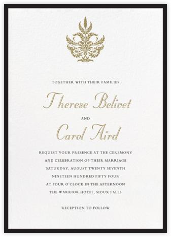 Contorno - Black - Paperless Post - Online Wedding Invitations