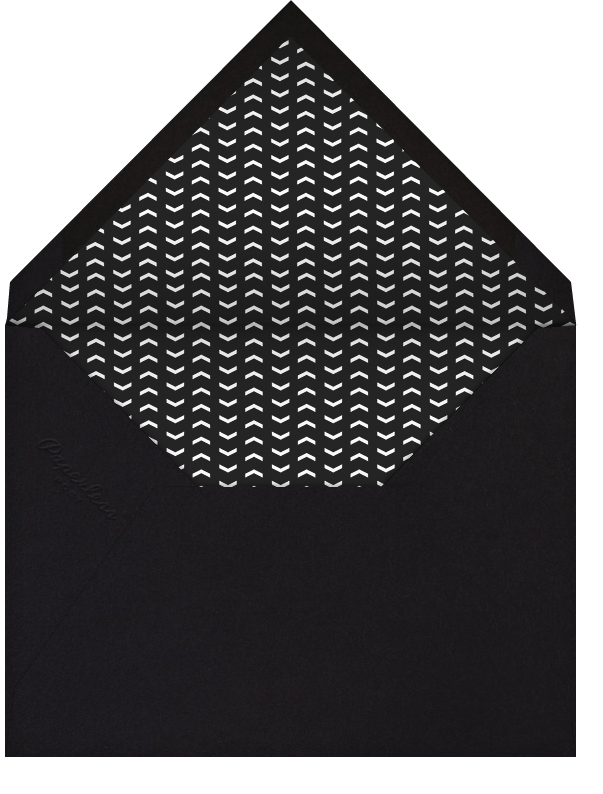 Contorno - Black - Paperless Post - Graduation party - envelope back