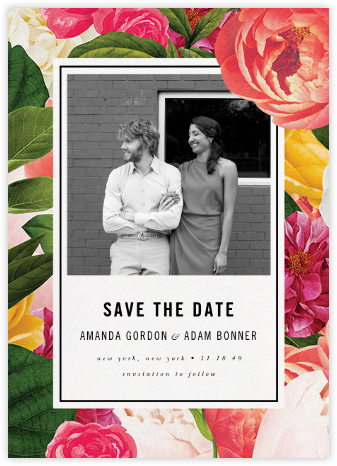 Lanai Floral (Save the Date) - kate spade new york - Kate Spade invitations, save the dates, and cards