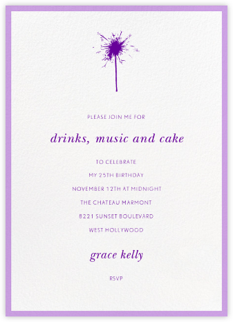 Contorno - Purple - Paperless Post - Adult Birthday Invitations