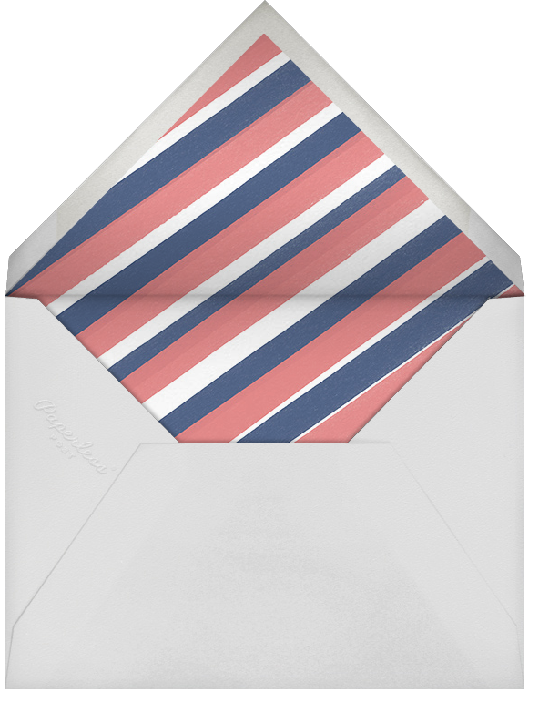 Carnation (Square) - Coral/Chartreuse - Paperless Post - Spring entertaining - envelope back