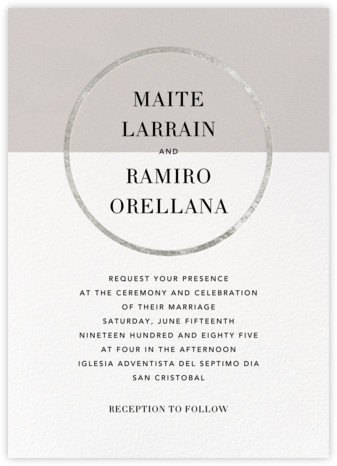 Burgoyne (Invitation) - Oyster/Silver - Paperless Post - Wedding Invitations