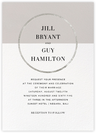 Burgoyne (Invitation) - Oyster/Silver - Paperless Post -