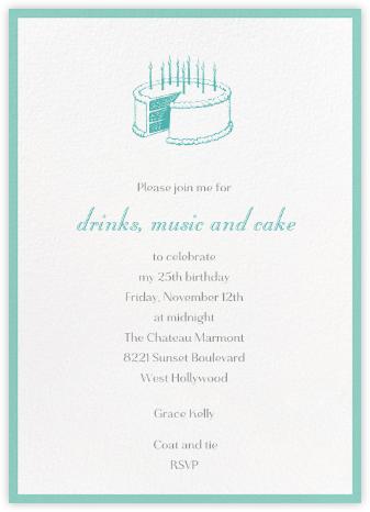 Contorno - Celadon - Paperless Post - Adult Birthday Invitations