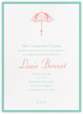 Contorno - Celadon - Paperless Post - Bridal shower invitations