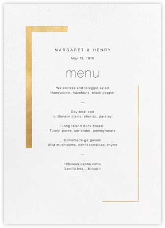 Ando (Menu) - Gold - Paperless Post - Wedding menus and programs - available in paper