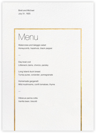 Veldener (Menu) - Gold - Paperless Post -