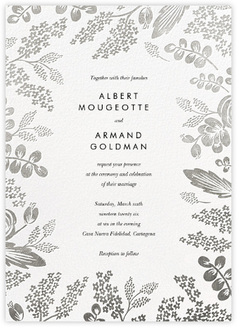 Heather and Lace (Invitation) - Silver | null