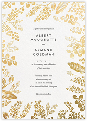Heather and Lace (Invitation) - White/Gold