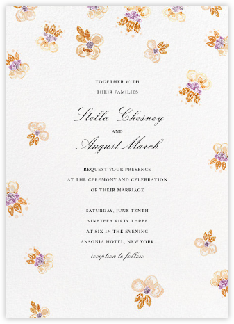 Petal Cascade (Invitation) - Oscar de la Renta - Wedding Invitations