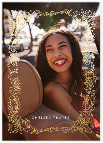 Botanical Lace (Photo) - Gold - Rifle Paper Co. - Graduation announcements