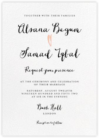 Coeur (Invitation) - Paperless Post - Wedding Invitations