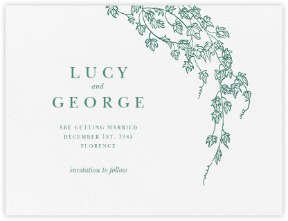 Gwendolyn I (Save The Date) - Hunter Green - Paperless Post - Save the dates