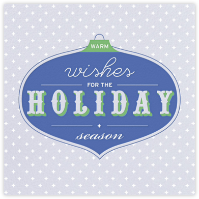 Ornament Wishes - Mist - Paperless Post -