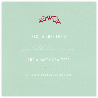Mint - Paperless Post - Company holiday cards