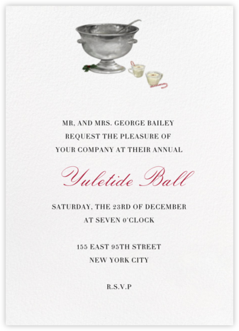 Eggnog on Ivory - Paperless Post - Holiday invitations