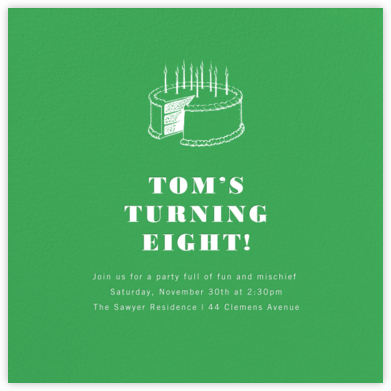Emerald (Square) - Paperless Post - First Birthday Invitations