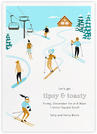 Chalet Shindig - Paperless Post - Winter Party Invitations