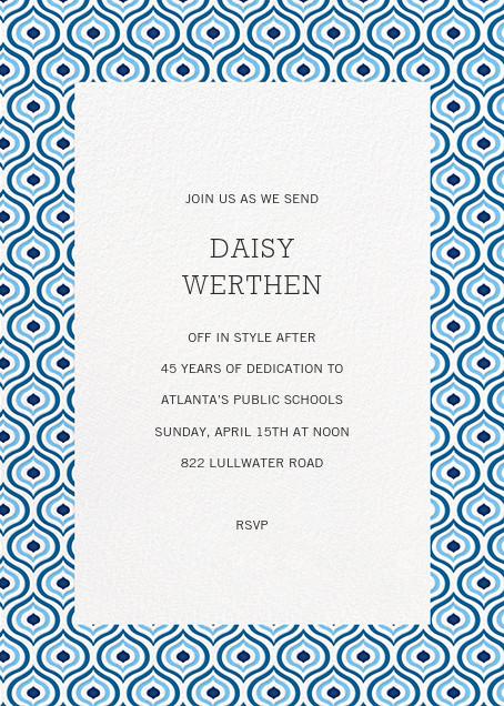 Florianopolis - Blue - Paperless Post - Retirement invitations, farewell invitations